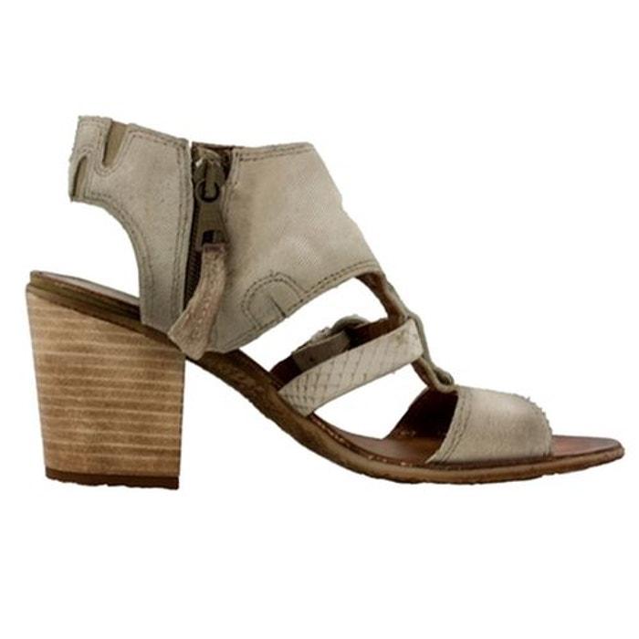 Sandales  /  nu-pieds cuir  gris Mjus  La Redoute