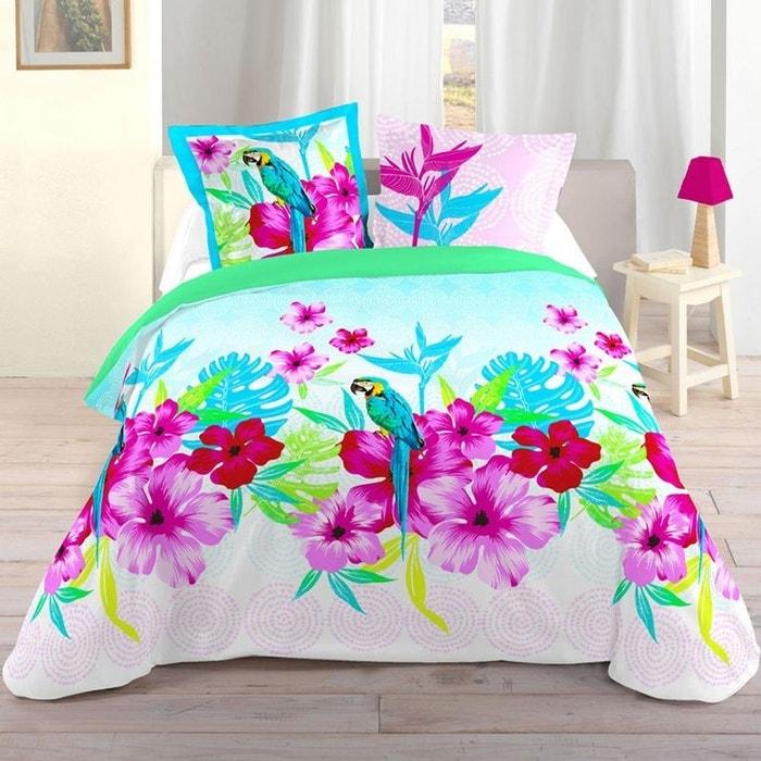 parure de lit perruche 260 x 240 cm couleur unique storex la redoute. Black Bedroom Furniture Sets. Home Design Ideas