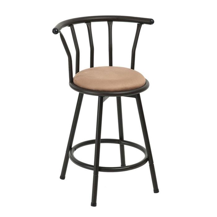 tabouret de bar en m tal style industriel grady noir calicosy la redoute. Black Bedroom Furniture Sets. Home Design Ideas