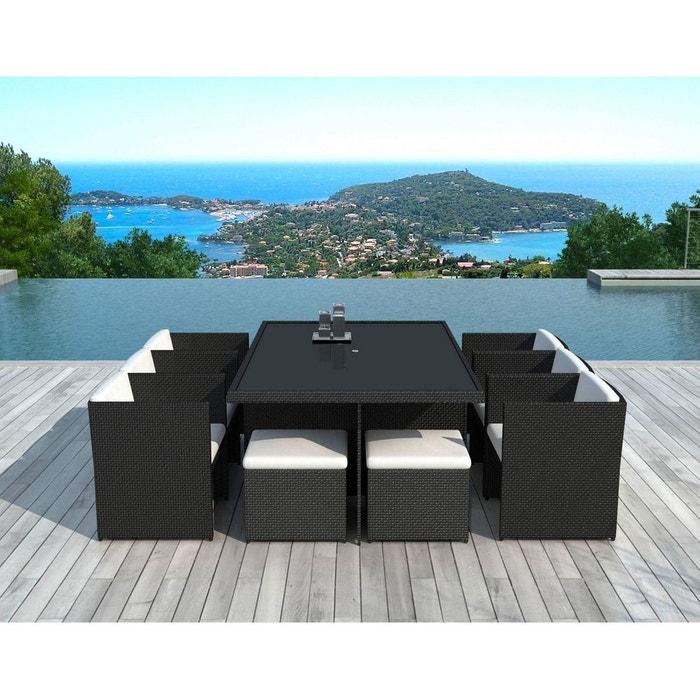 Sd8230 - table et chaises de jardin noir Delorm   La Redoute
