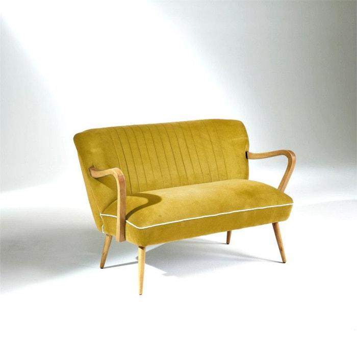 banquette vintage sixty jaune moutarde jaune moutarde robin des bois la redoute. Black Bedroom Furniture Sets. Home Design Ideas