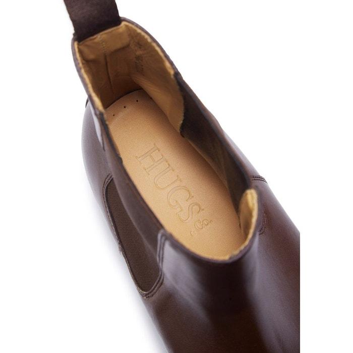 Bottes chelsea en cuir marron marron Hugs & Co