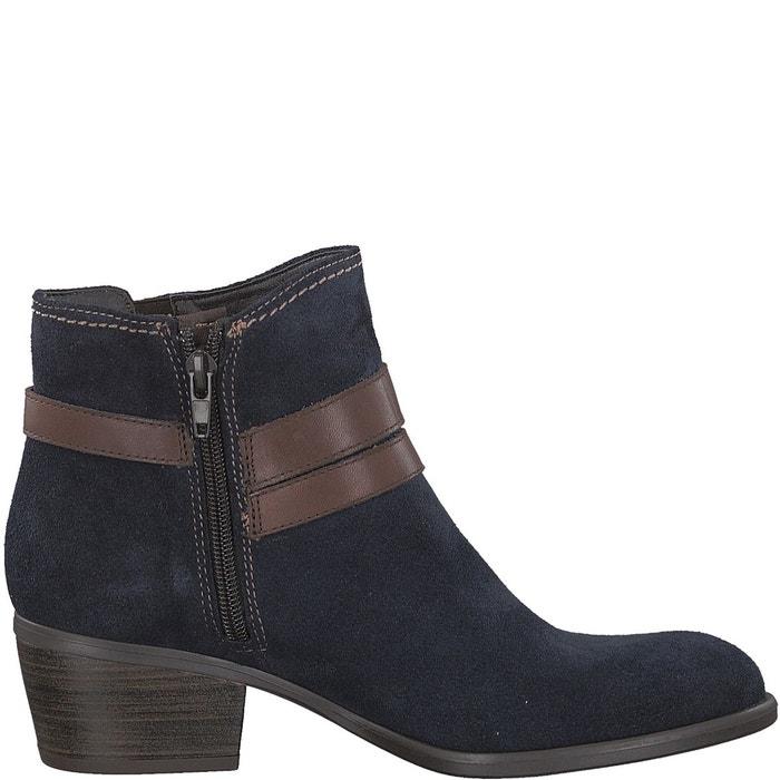 Boots cuir becka bleu marine Tamaris Réduction 2018 Unisexe Vente Vraiment Jeu 2018 Unisexe vUjjWpdgPR