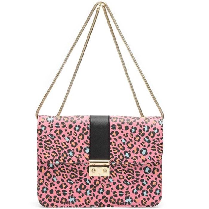 Style De Mode Meilleur Magasin Pour Obtenir La Vente En Ligne Petit sac imprimé léopard rose L'aetelier Caesars | La Redoute d8X5VJqgD