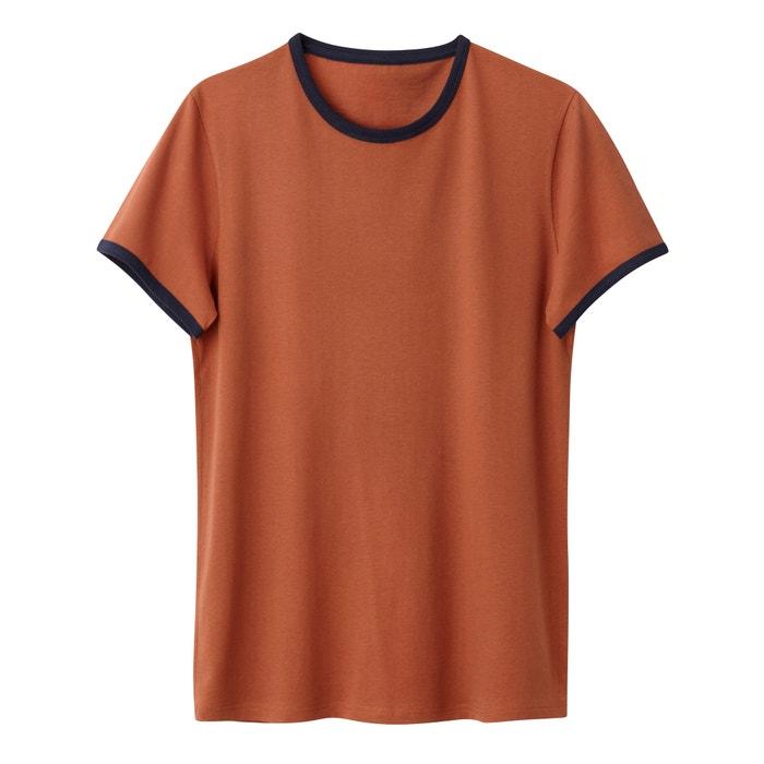 afbeelding T-shirt met ronde hals 100% biokatoen La Redoute Collections