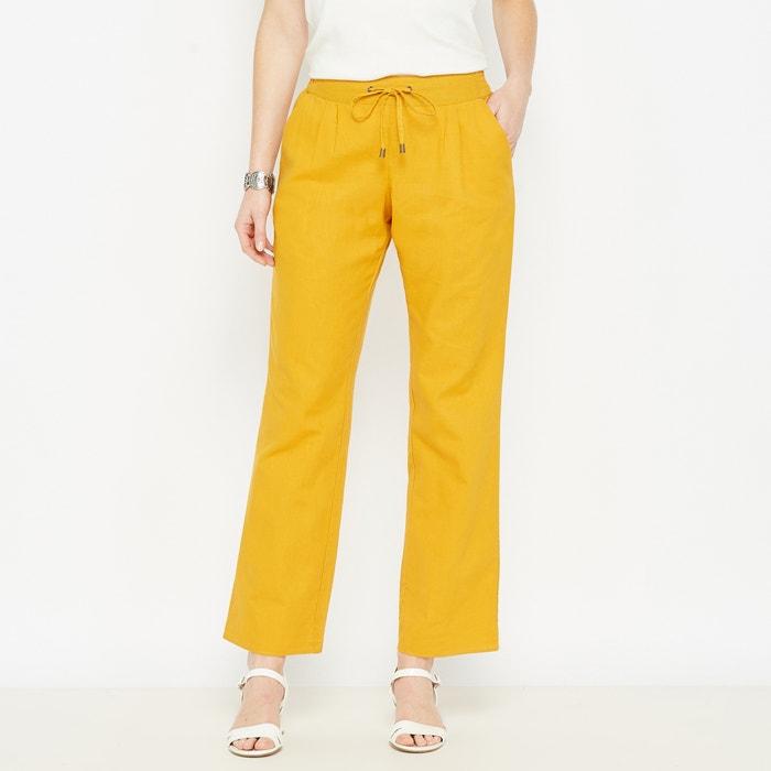 Wide Leg, Linen Rich Trousers  ANNE WEYBURN image 0