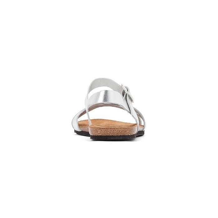 Sandales cuir keandra 2 argent Esprit