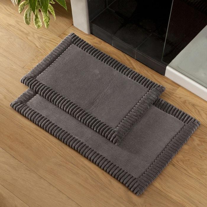 tapis de bain chenille gris polyester gris tradition des vosges la redoute. Black Bedroom Furniture Sets. Home Design Ideas