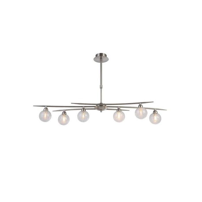 lustre design groovy nickel satin 6 lampes transparent. Black Bedroom Furniture Sets. Home Design Ideas