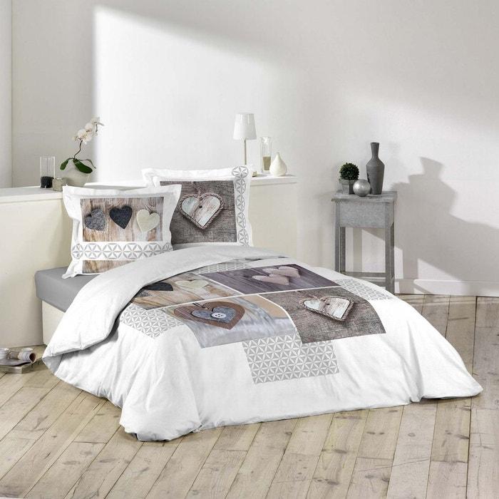 parure housse de couette imprime collection kalicoeur blanc douceur d 39 int rieur la redoute. Black Bedroom Furniture Sets. Home Design Ideas