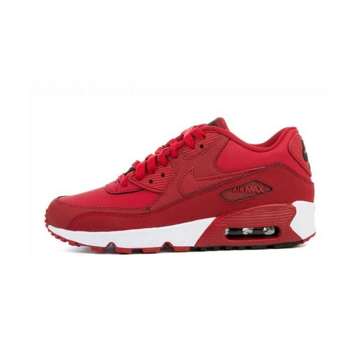 233e4ed5696f1 Basket air max 90 leather junior rouge Nike   La Redoute
