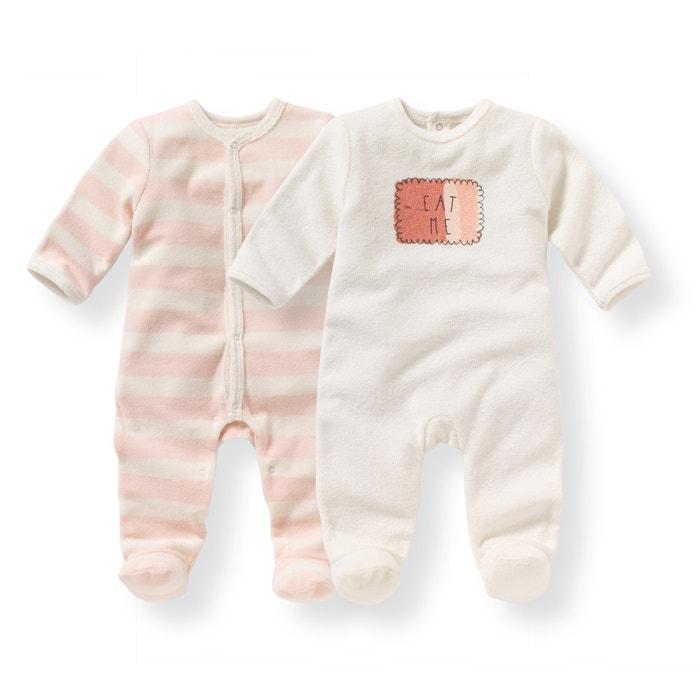 Image Pyjama naissance éponge 0 mois-3 ans (lot de 2) La Redoute Collections