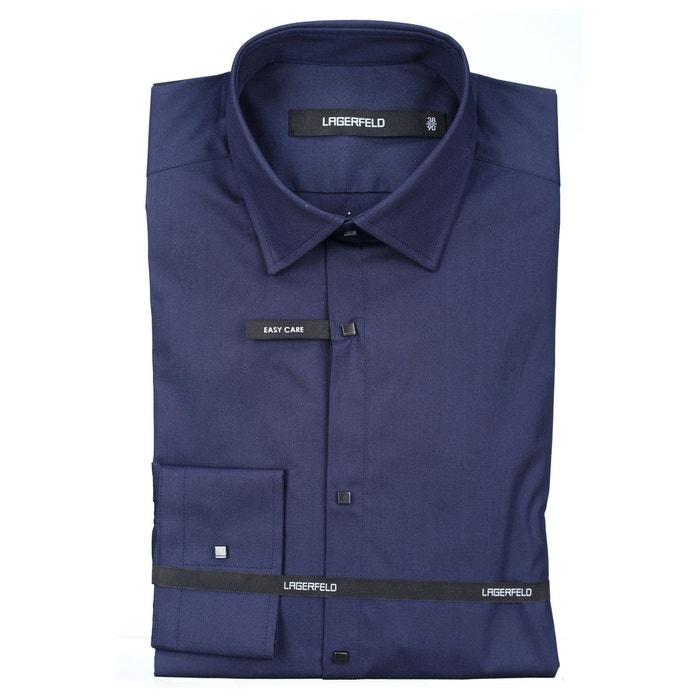 chemise habill e lagerfeld 606003 670 marine bleu karl lagerfeld la redoute. Black Bedroom Furniture Sets. Home Design Ideas