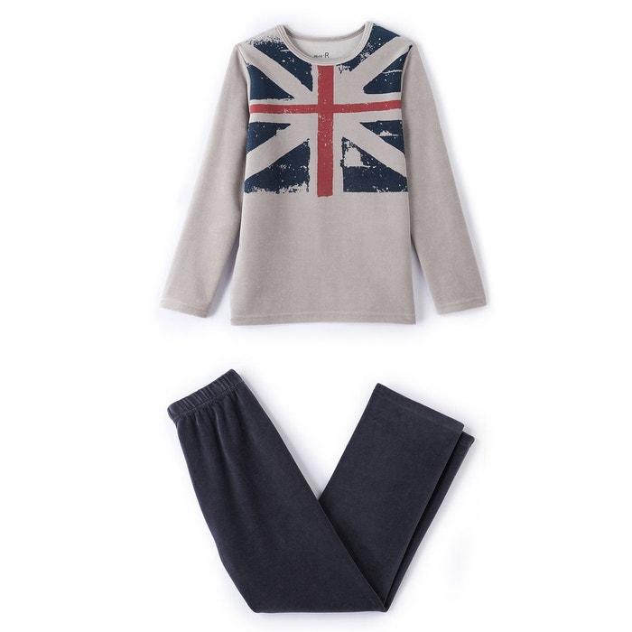 Pyjama velours imprimé ''drapeau'' 2-12 ans