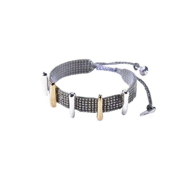 Prix De Gros Pas Cher En Ligne Achat Vente Bracelet mishky motifs argentés et dorés GmH5Lyp