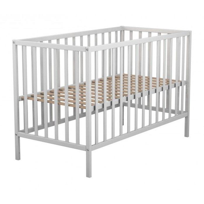 Lit bébé sommier réglable blanc 60x120 blanc Terre De Nuit | La ...