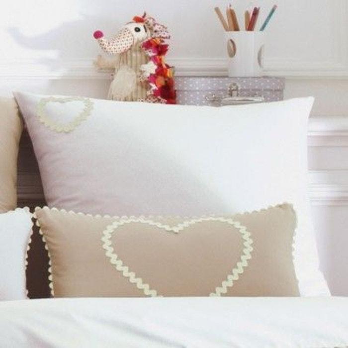 taie de coussin coeur lin liou la redoute. Black Bedroom Furniture Sets. Home Design Ideas