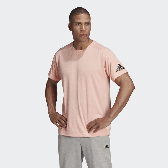 t shirt adidas rose homme