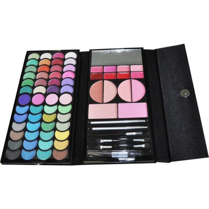 coffret cadeau palette de maquillage pochette collection clutch argent 72pcs noir gloss la. Black Bedroom Furniture Sets. Home Design Ideas