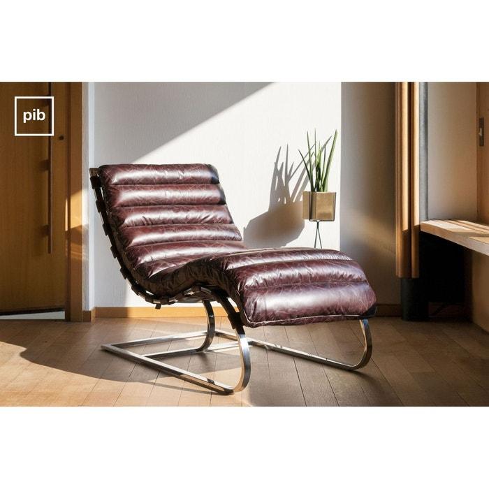 chaise longue weimar marron produit interieur brut la. Black Bedroom Furniture Sets. Home Design Ideas