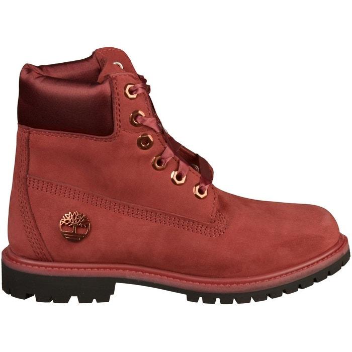 ba12b79ec3a Bottines cuir rouge Timberland