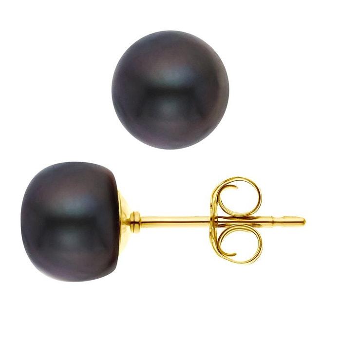 Faire Acheter Boucles d'oreilles véritables perles d'eau douce or jaune noir Perlinstinct | La Redoute Vente Paiement De Visa Grande Vente La Vente En Ligne 6m9FiB0l