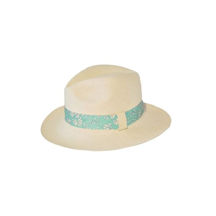 Chapeau panama en paille écrue ruban interchangeable tahiti blanc Panames And Co | La Redoute Boutique D'expédition bLcKdC