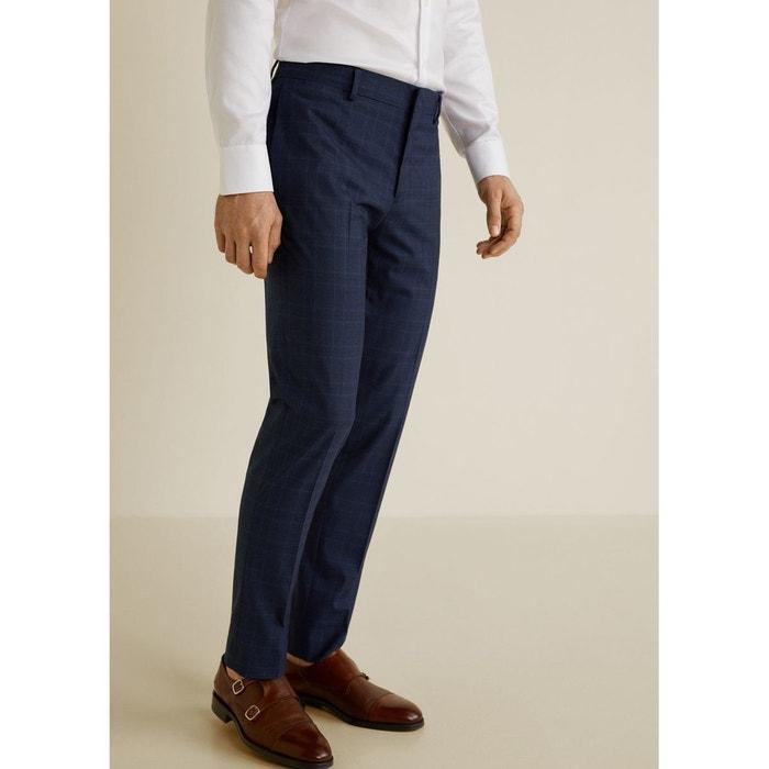 fe11ded1 Pantalon de costume super slim-fit bleu marine foncé Mango Man | La Redoute