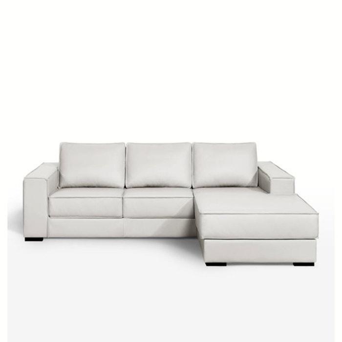 Image Canapé d'angle, fixe, confort excellence,coussins cuir véritable, Hope La Redoute Interieurs