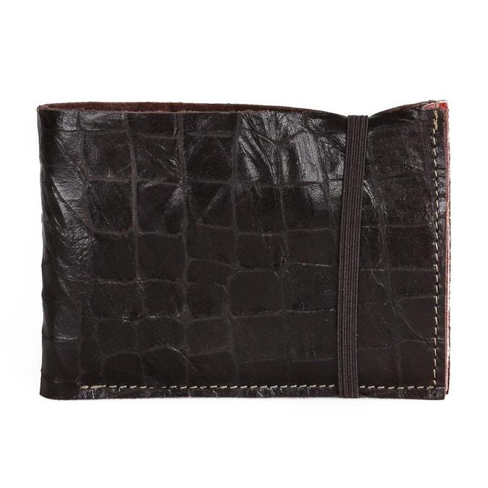Portefeuille cuir homme marron chocolat Bandit Manchot   La Redoute a07c6ea5707