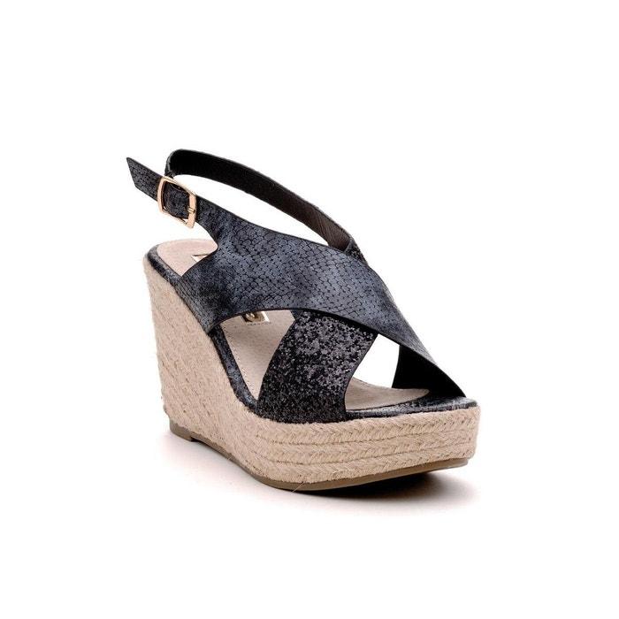 Sandale noir Xti Payer Pas Cher Avec Visa 5ZPT3Wa86y