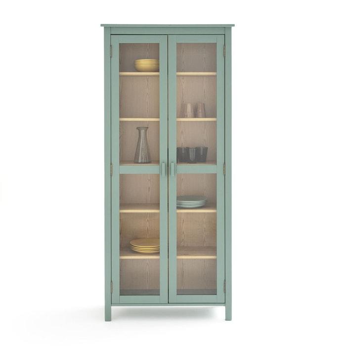 vitrine vaisselier pin massif alvina vert eucalyptus la redoute interieurs la redoute. Black Bedroom Furniture Sets. Home Design Ideas