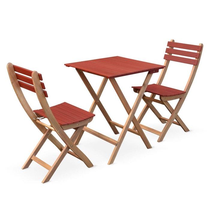 Table de jardin bistrot 60x60cm - barcelona - pliante carrée en ...