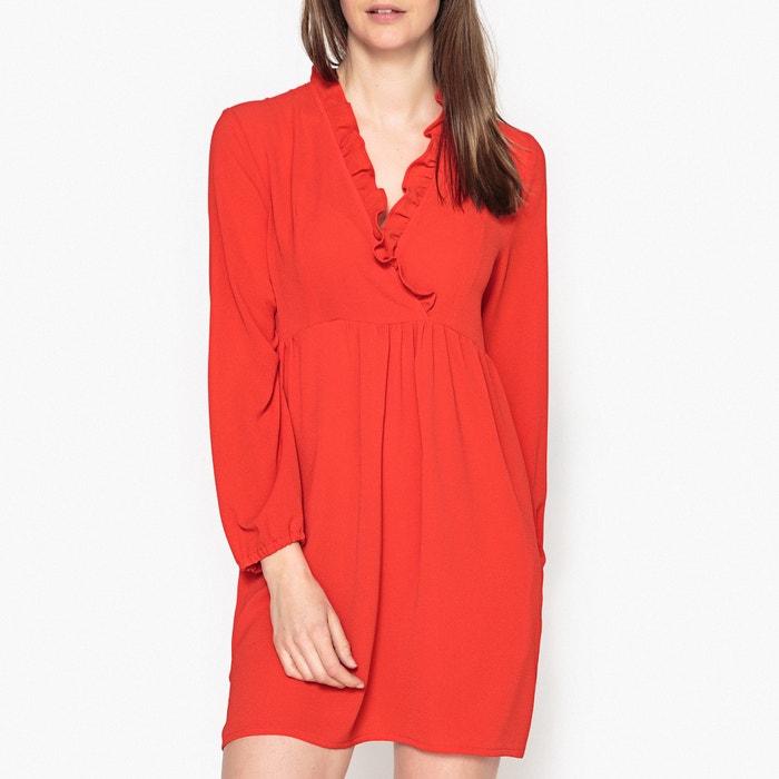 Peril Ruffled Neckline Dress  LA BRAND BOUTIQUE COLLECTION image 0