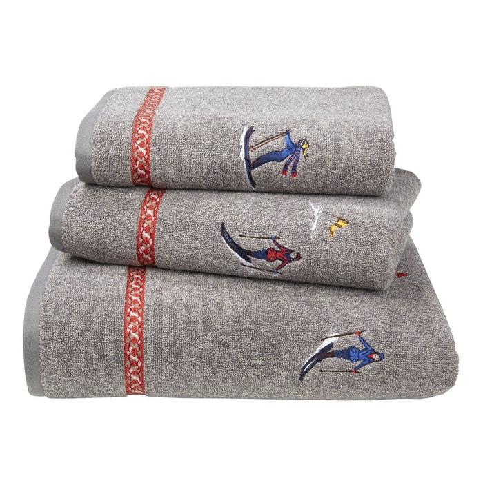 serviette de bain peign bourrasque gris olivier desforges la redoute. Black Bedroom Furniture Sets. Home Design Ideas