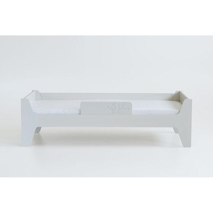 lit enfant avec sommier blanc lait 70x160 naturel blanc. Black Bedroom Furniture Sets. Home Design Ideas