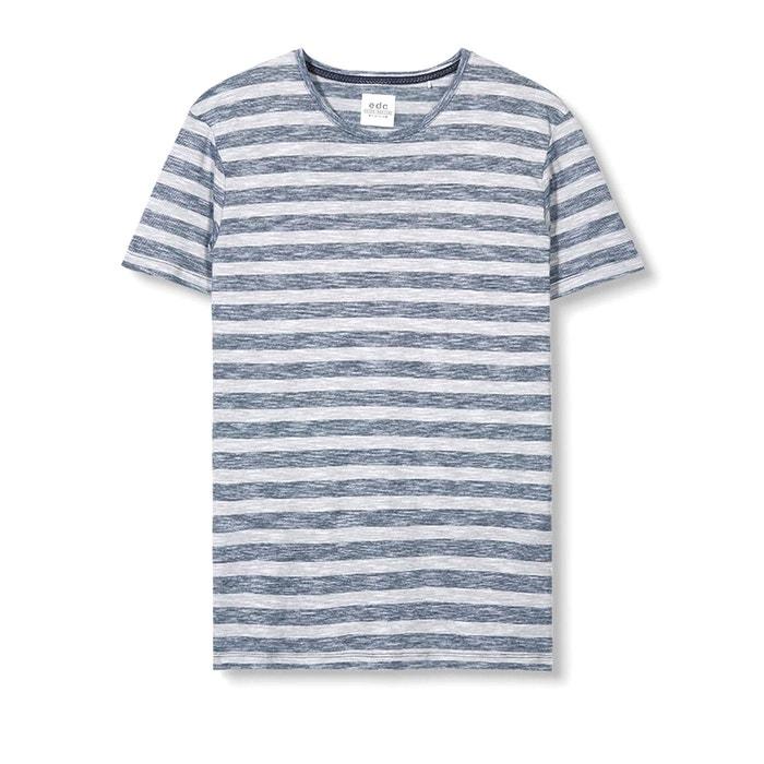 Image Tee-shirt chiné à rayures ESPRIT