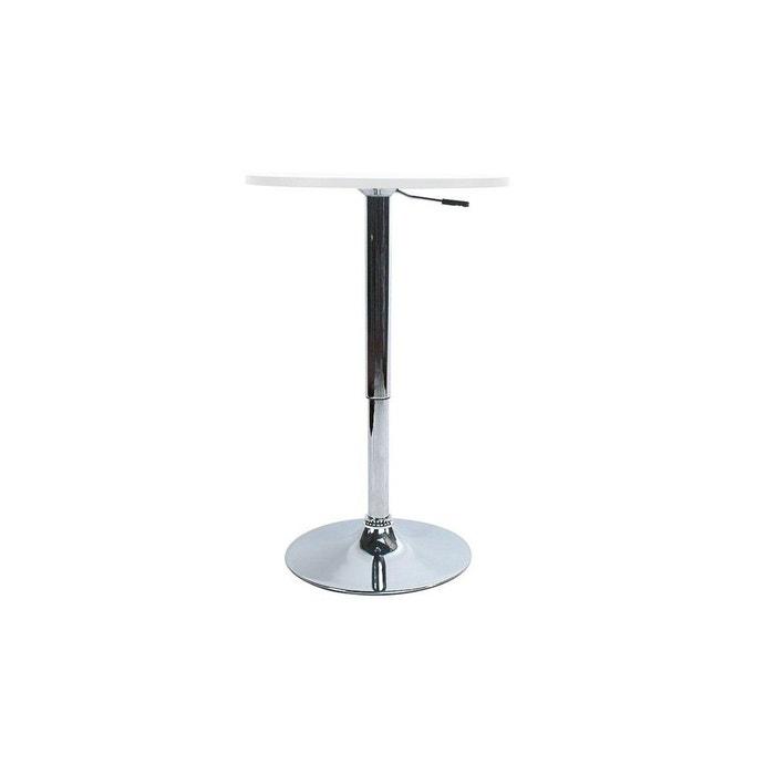 table de bar r glable en hauteur mange debout charlie blanc blanc miliboo la redoute. Black Bedroom Furniture Sets. Home Design Ideas