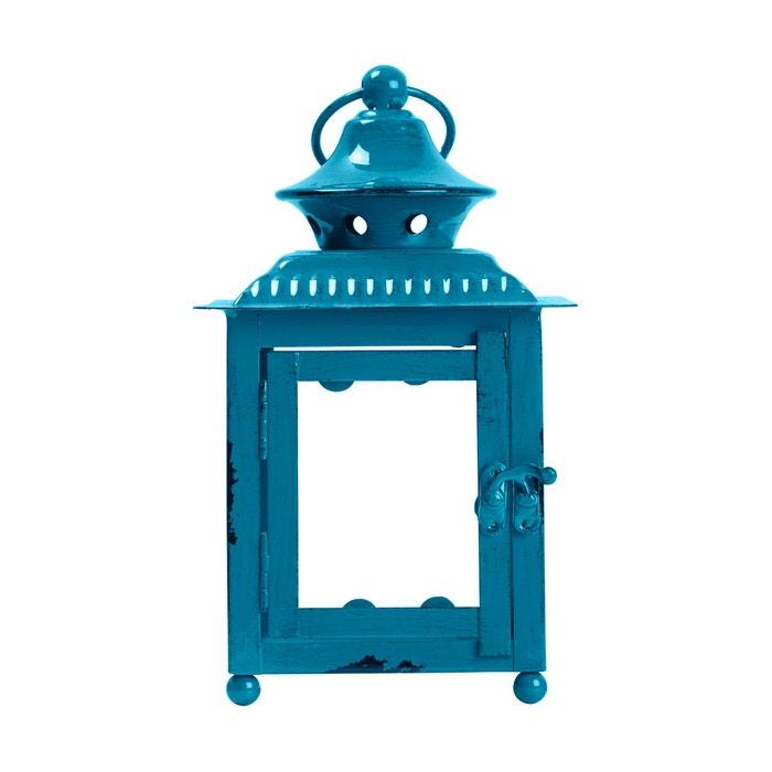 lanterne d corative verre luciole bleu turquoise fonc bleu turquoise fonc madura la redoute. Black Bedroom Furniture Sets. Home Design Ideas