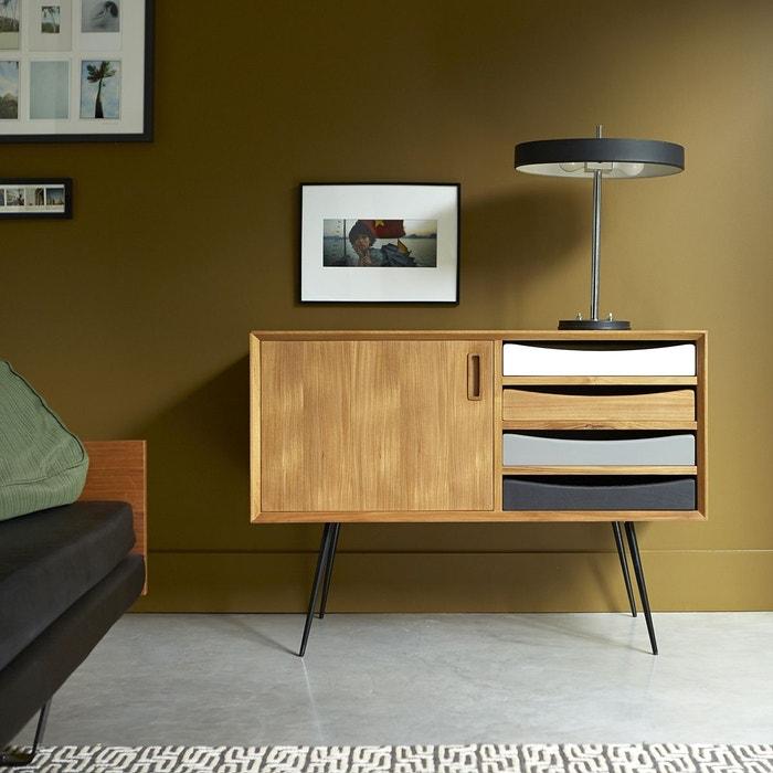 bahut en bois de teck 100 ruben teck brut tikamoon la redoute. Black Bedroom Furniture Sets. Home Design Ideas