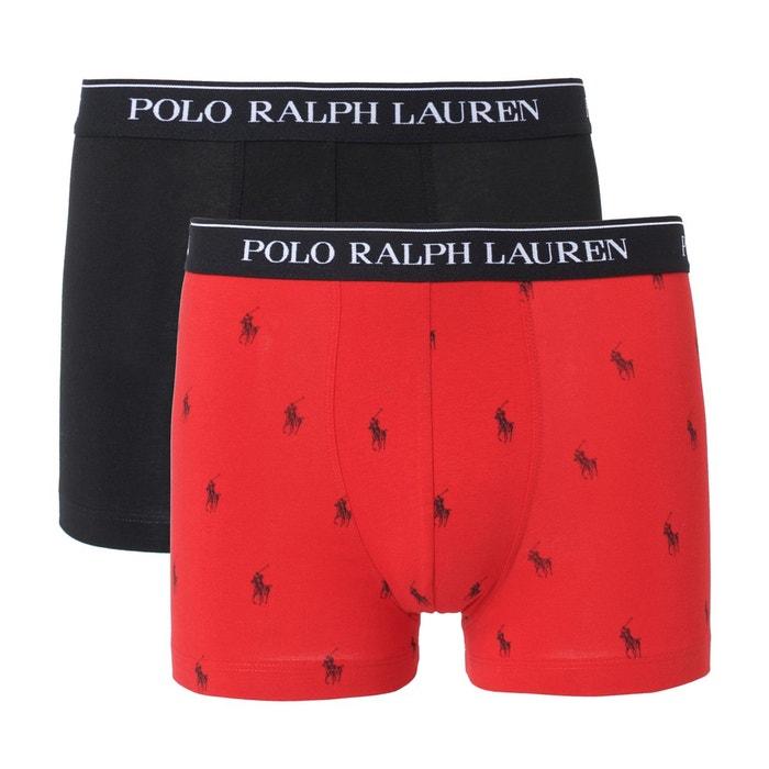 Boxers uni + imprimé POLO RALPH LAUREN (lot de 2)