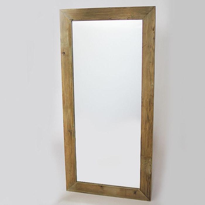 Miroir grand mod le authentiq en pin recycl naturel for Miroir grand modele
