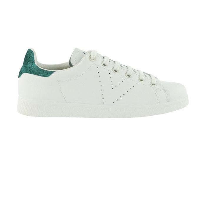 Chaussures deportivo basket piel verde blanc Victoria