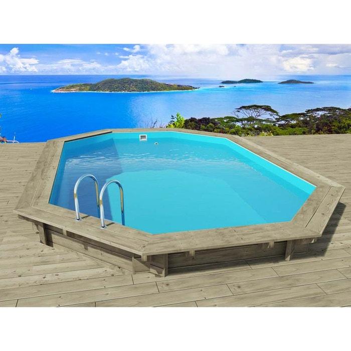 piscine bois havana x x m couleur. Black Bedroom Furniture Sets. Home Design Ideas
