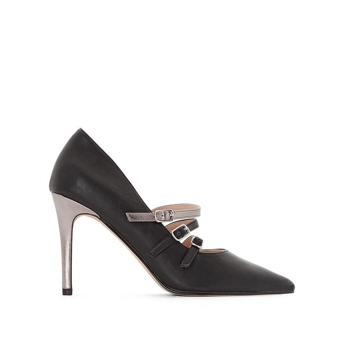 Туфли с тройным ремешком на металлизированном каблуке  MADEMOISELLE R image 0