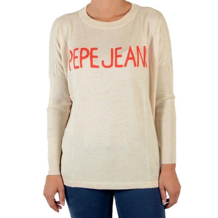 7be932db989e5 Pull barry beige chalk beige Pepe Jeans   La Redoute