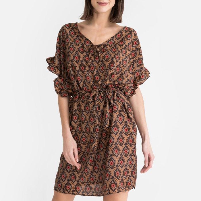 Robe Style Longue Imprimé ToupyLa Redoute EthniqueMi Camel 8nPk0wO