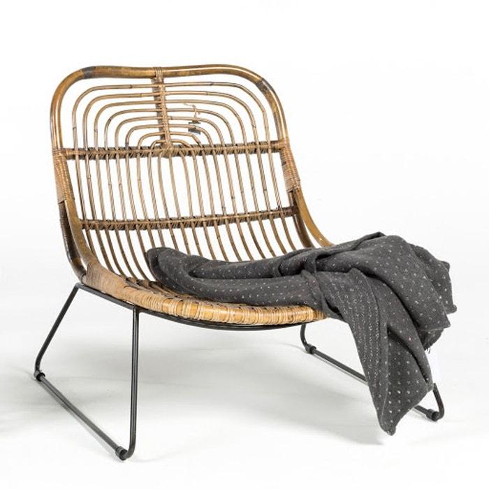 fauteuil bas en rotin moka bois clair casatera la redoute. Black Bedroom Furniture Sets. Home Design Ideas