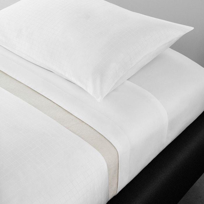 housse de couette trianon blanc blanc calvin klein home la redoute. Black Bedroom Furniture Sets. Home Design Ideas