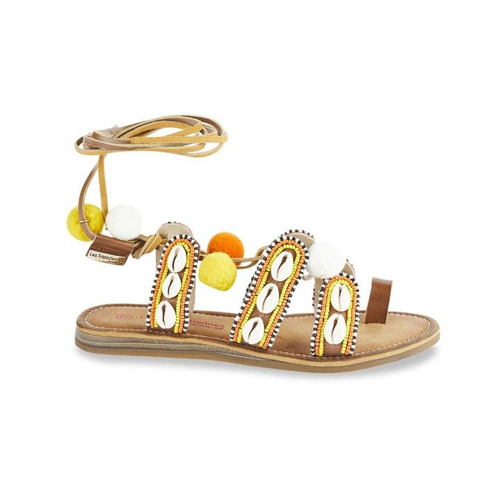 Sandales gapita  tan multico Les Tropeziennes Par M Belarbi  La Redoute